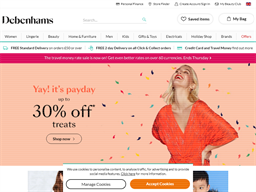 Debenhams Beauty Club Reward Card shopping
