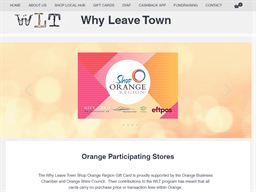 Orange Why Leave Town gift card purchase