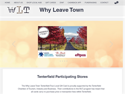 Tenterfield Why Leave Town gift card purchase