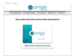 Amain Rocks gift card purchase