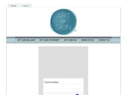 Art of Skin MD gift card balance check