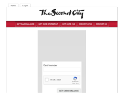 The Second City gift card balance check