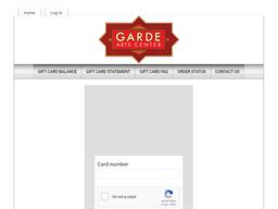 Garde Arts Center gift card balance check