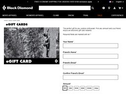 Black Diamond Equipment gift card balance check