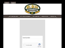 Big Bear Brewing Company gift card balance check