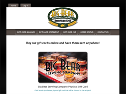 Big Bear Brewing Company gift card purchase