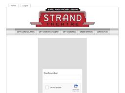 Strand Theatre gift card balance check