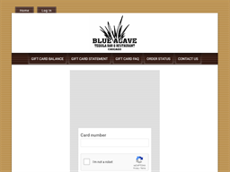Blue Agave Tequila Bar gift card balance check