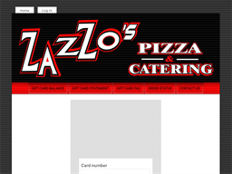 Zazzo's Pizza gift card balance check