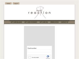 Salon Reaction & Spa gift card balance check