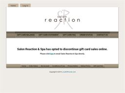 Salon Reaction & Spa gift card purchase