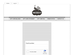 Iron Rooster gift card balance check