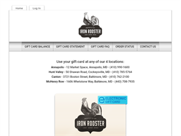 Iron Rooster gift card purchase