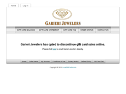 Garieri Jewelers gift card purchase