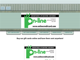 On-Line Credit Card Services gift card purchase