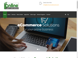 On-Line Credit Card Services shopping