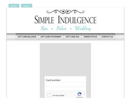 Simple Indulgence Day Spa gift card balance check