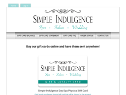 Simple Indulgence Day Spa gift card purchase