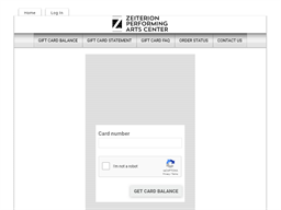Zeiterion Performing Arts Center gift card balance check