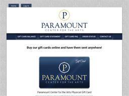 Paramount Center for the Arts gift card purchase