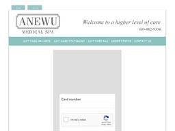 ANEWU Medical Spa gift card balance check