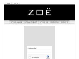 Zoe gift card balance check