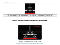 Argyle Theatre gift card purchase