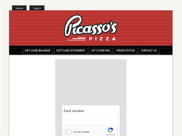 Picasso's Pizza gift card balance check