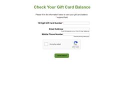 Blimpie gift card balance check