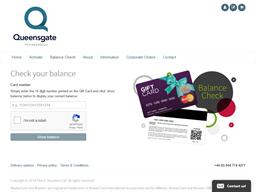 Queensgate Shopping Centre gift card balance check