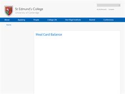St Edmund's College gift card balance check
