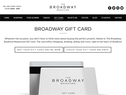 The Broadway Bradford gift card purchase