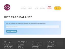 Cup Tea Lounge gift card balance check