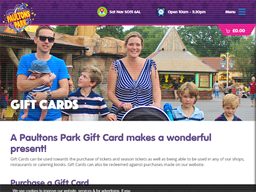 Paultons Park gift card purchase