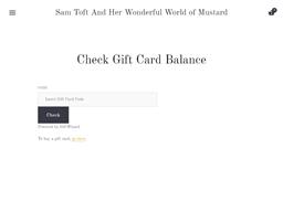 Sam Toft And Her Wonderful World of Mustard gift card balance check