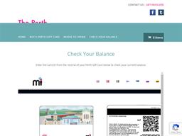 The Perth Gift Card gift card balance check