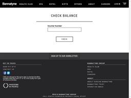 The Bannatyne Group gift card balance check