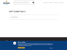Belhaven Pubs gift card purchase