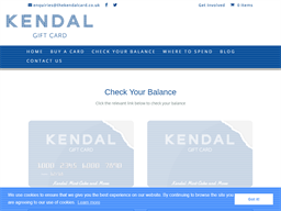 The Kendal Card (without Number) gift card purchase