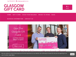 Glasgow Gift Card (without Number) shopping