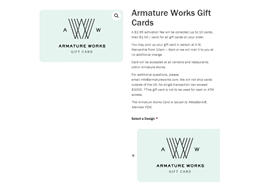 Armature Works gift card purchase