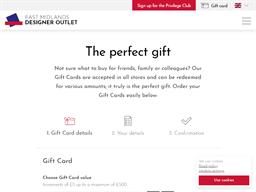 McArthurGlen East Midlands Designer Outlet gift card purchase