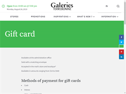 Galeries Terrebonne gift card purchase