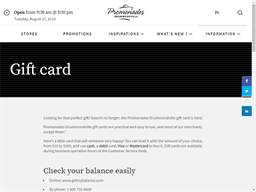 Promenades Drummondville gift card purchase