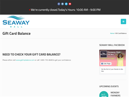 Seaway Mall gift card purchase