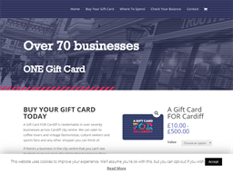 A Gift Card FOR Cardiff (without Number) shopping