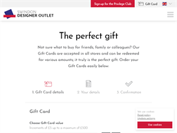 McArthurGlen Swindon Designer Outlet gift card purchase