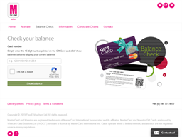 The Mall Luton gift card balance check