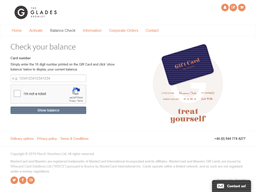 The Glades gift card balance check