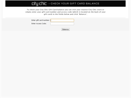 City Chic gift card balance check